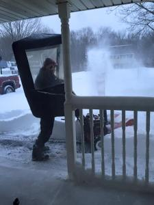 Dave Snow Blowing