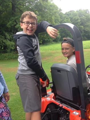 Thomas, Ben on tractor