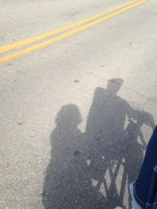 shadow-on-bike